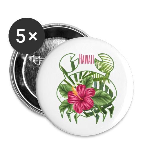 Granchio hawaiano - Confezione da 5 spille piccole (25 mm)