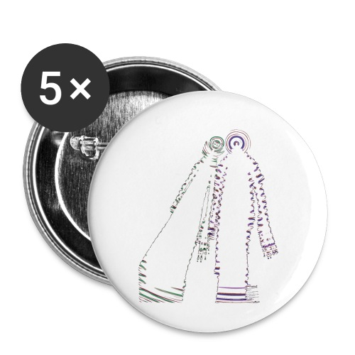 fatal charm - hi logo - Buttons small 1''/25 mm (5-pack)