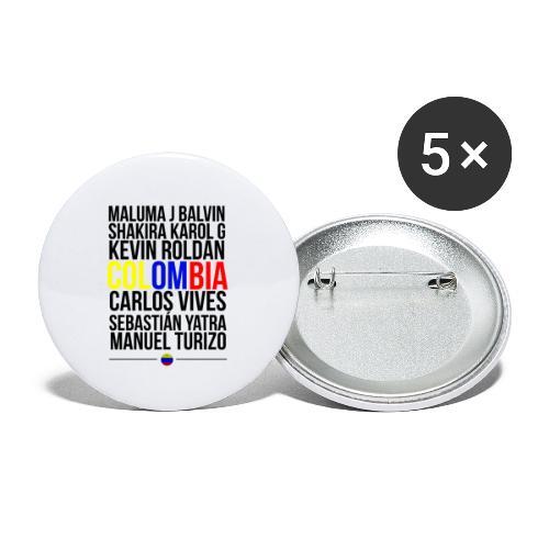 Reggaeton Shirt Kolumbien - Buttons klein 25 mm (5er Pack)