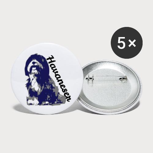 havaneser - Buttons klein 25 mm (5er Pack)