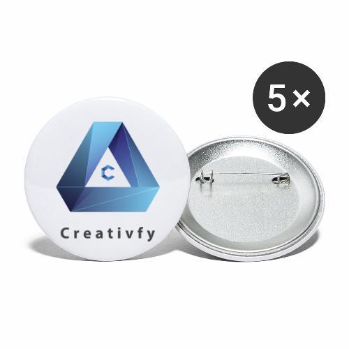 creativfy - Buttons klein 25 mm (5er Pack)