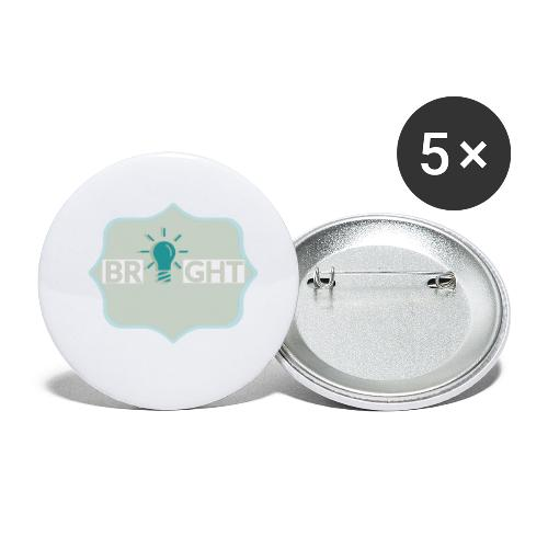 bright - Buttons small 1''/25 mm (5-pack)