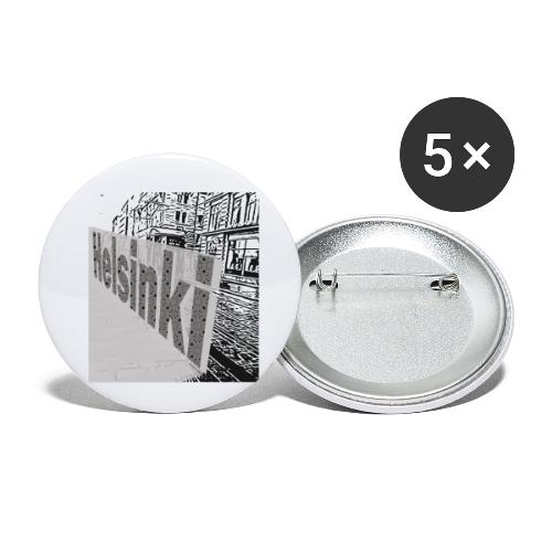 helsinki tram typo - Buttons small 1''/25 mm (5-pack)