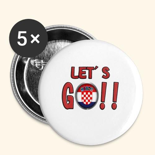 Go Croatia - Confezione da 5 spille piccole (25 mm)