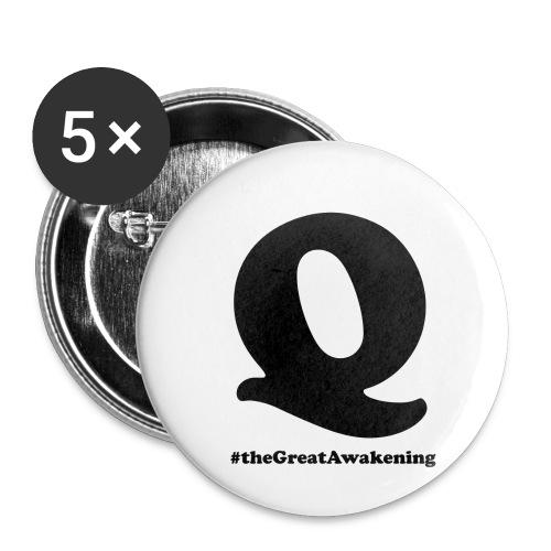 Q Anon #theGreatAwakening - Rintamerkit pienet 25 mm (5kpl pakkauksessa)