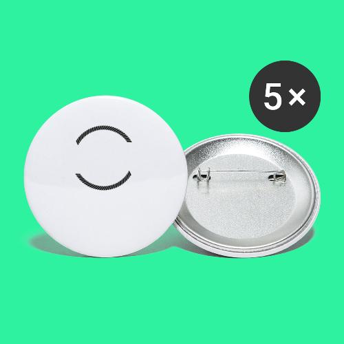 KING - Buttons klein 25 mm (5er Pack)