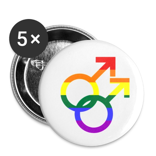 Gay Men Sign - Buttons klein 25 mm