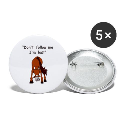 lost - Buttons klein 25 mm (5er Pack)