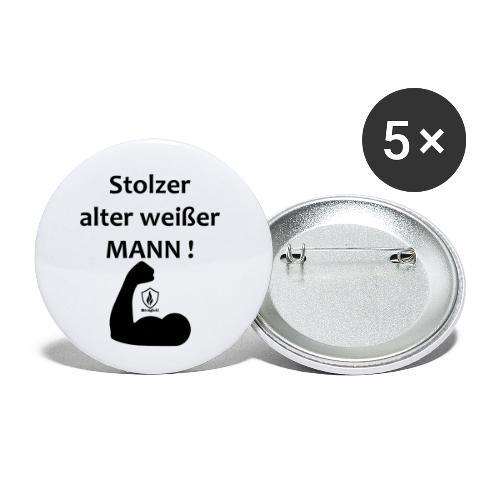Stolzer alter weißer Mann - Buttons klein 25 mm (5er Pack)
