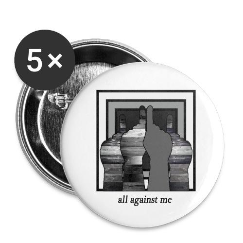 ALL AGAINST ME-2 - Paquete de 5 chapas pequeñas (25 mm)