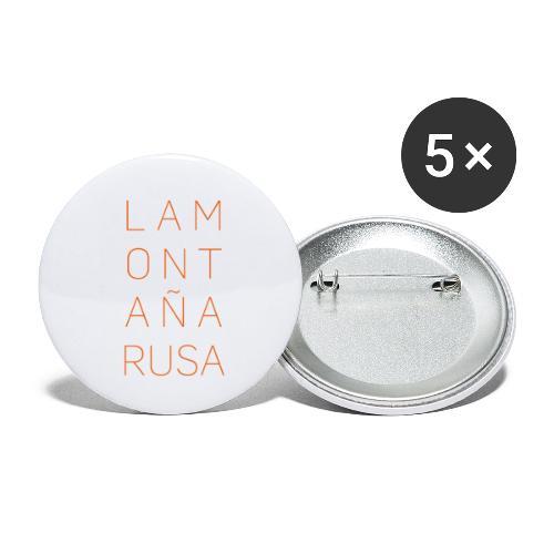 La Montaña Rusa - Paquete de 5 chapas pequeñas (25 mm)