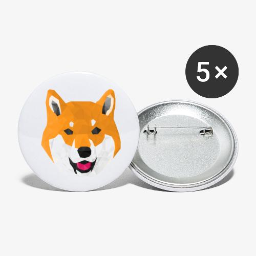 Shiba Dog - Buttons small 1''/25 mm (5-pack)