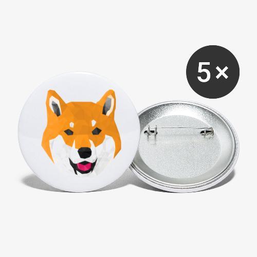Shiba Dog - Lot de 5 petits badges (25 mm)