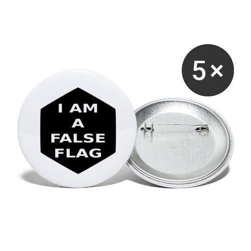 I am a false flag - Buttons klein 25 mm (5er Pack)