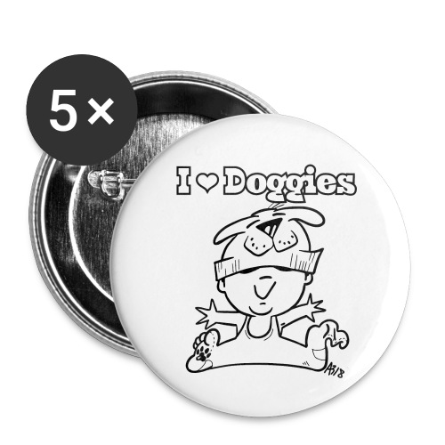 baby i love doggies - Buttons klein 25 mm