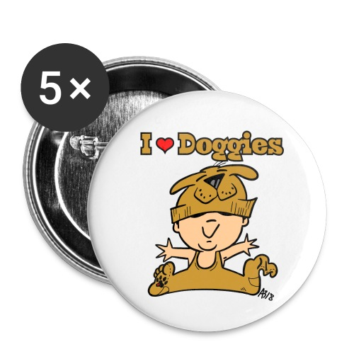 baby i love doggies color - Buttons klein 25 mm