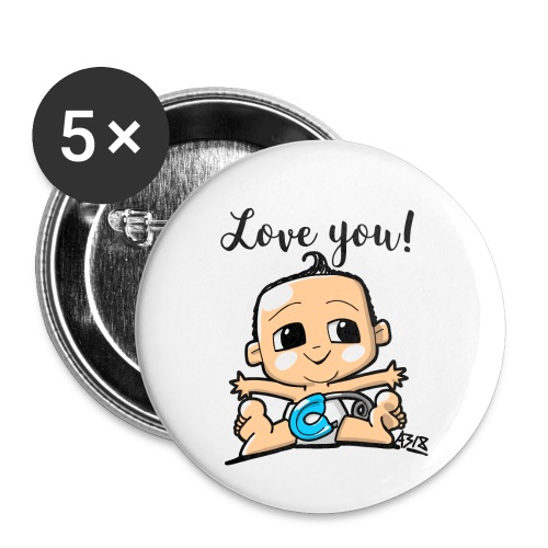 baby boy color - Buttons klein 25 mm