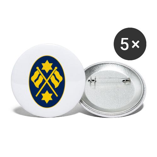 bunting oval badge - Buttons small 1''/25 mm (5-pack)
