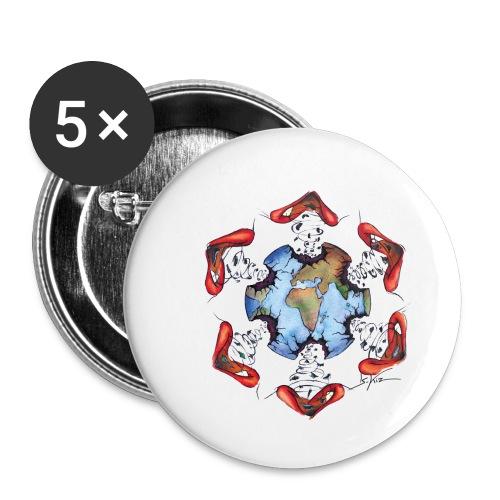 Égoïsme de l'être humain - Lot de 5 petits badges (25 mm)