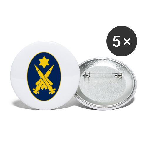 Missile Oval - Buttons small 1''/25 mm (5-pack)