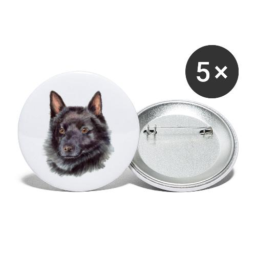 schipperke - M - Buttons/Badges lille, 25 mm (5-pack)