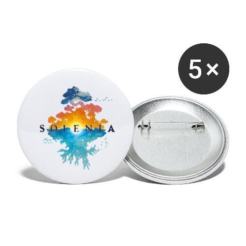 Solenia - Lot de 5 petits badges (25 mm)
