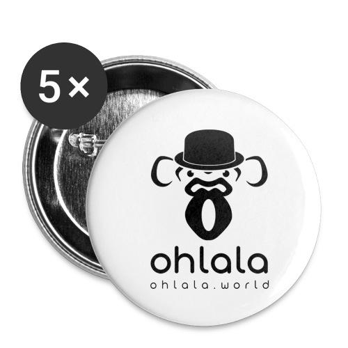 Ohlala Oh my God BLACK - Lot de 5 petits badges (25 mm)