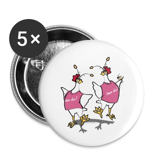 Hen Party (pink) - Buttons small 1''/25 mm (5-pack)
