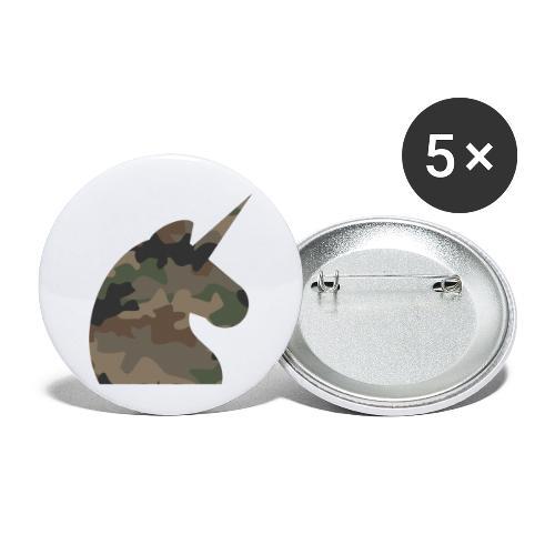 Einhorn T Shirt Männer Camouflage Army Style - Buttons klein 25 mm (5er Pack)