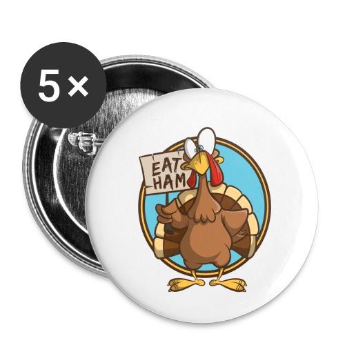 Truthahn Pute Weihnachten Thanksgiving - Buttons klein 25 mm (5er Pack)