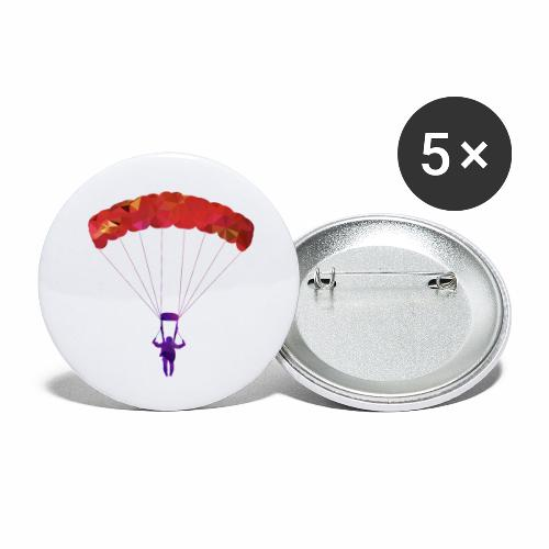 Le PARAPENTE ! - Lot de 5 petits badges (25 mm)