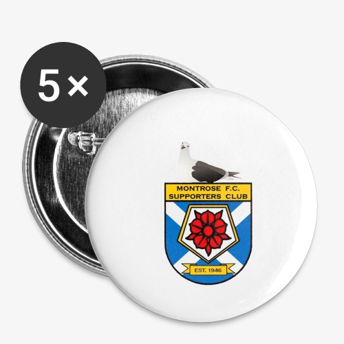 Montrose FC Supporters Club Seagull - Buttons small 1''/25 mm (5-pack)
