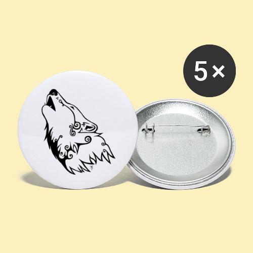 Le Loup de Neved (version traits) - Lot de 5 petits badges (25 mm)