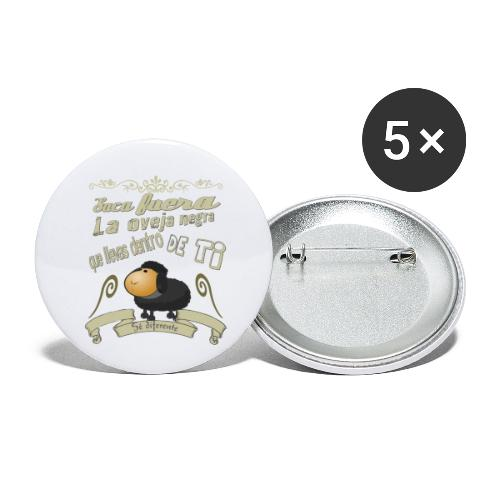 Saca fuera la oveja negra. - Paquete de 5 chapas pequeñas (25 mm)