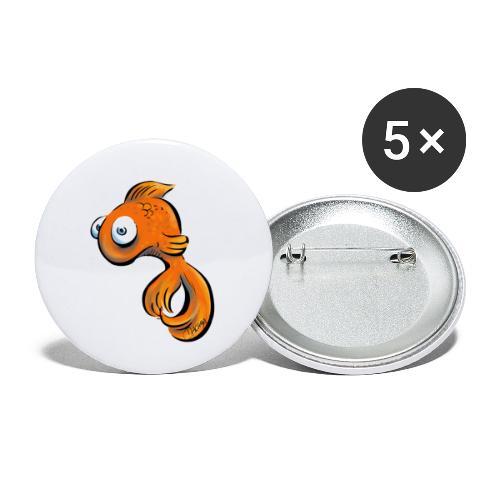 Frustfisch - Buttons klein 25 mm (5er Pack)