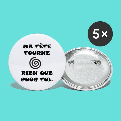ça tourne. - Lot de 5 petits badges (25 mm)