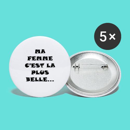 Belle femme - Lot de 5 petits badges (25 mm)
