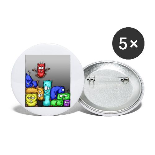hamstris_farbe - Buttons klein 25 mm (5er Pack)