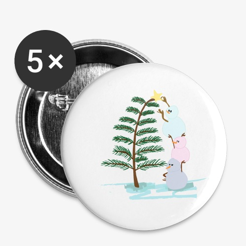 3bonhommesdeneige - Buttons small 1''/25 mm (5-pack)