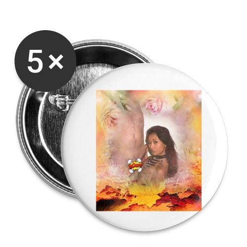 Herbstsinfonie - Buttons klein 25 mm (5er Pack)