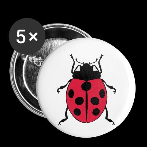 marienkaefer - Buttons klein 25 mm (5er Pack)