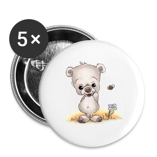 Noah der kleine Bär - Buttons klein 25 mm (5er Pack)