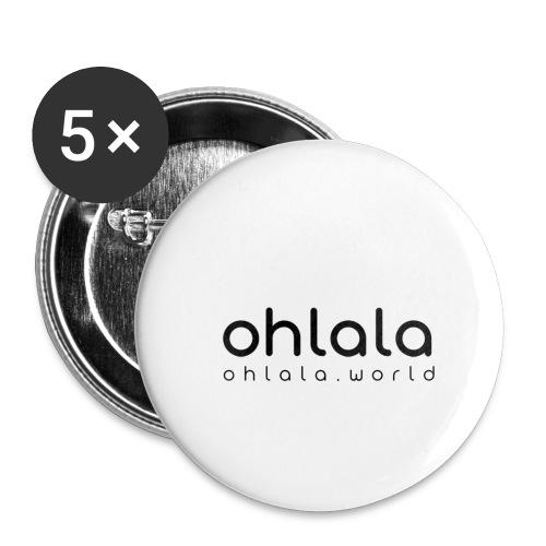 Ohlala Single BLACK - Lot de 5 petits badges (25 mm)