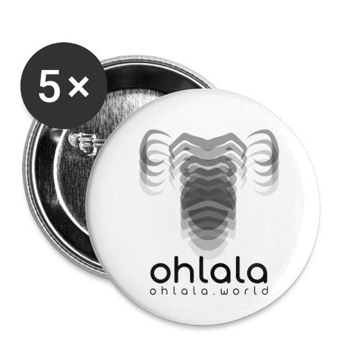 Ohlala Vibra BLACK - Lot de 5 petits badges (25 mm)