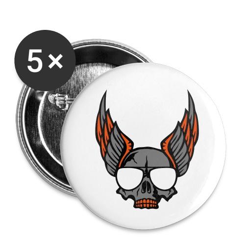 tete mort aile lunette skull aille 1206 - Lot de 5 petits badges (25 mm)