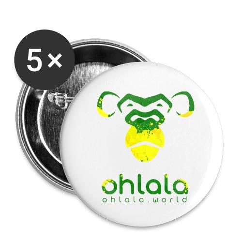 Ohlala Jamaica - Lot de 5 petits badges (25 mm)