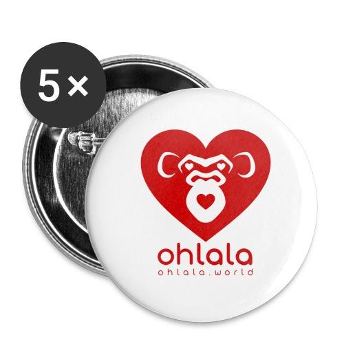 Ohlala LOVE - Lot de 5 petits badges (25 mm)