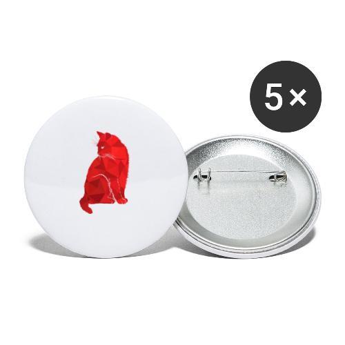 Cat - Buttons klein 25 mm (5er Pack)