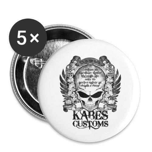 Kabes Tiptoe T-Shirt - Buttons small 1''/25 mm (5-pack)