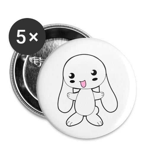 Kaninchen - Buttons klein 25 mm (5er Pack)